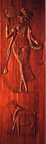 Oxum - escultura de Carybé em madeira (Museu Afro-Brasileiro, em Salvador, no Brasil.