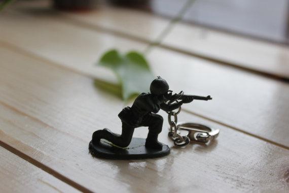 Army Men Toy Keychain