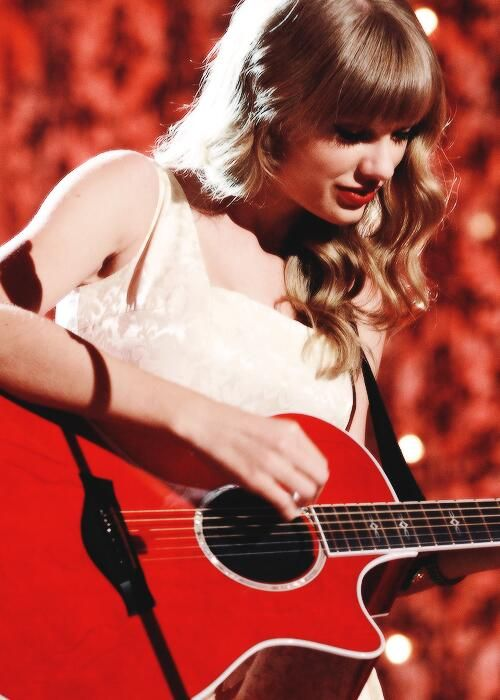 The red guitar tho...
