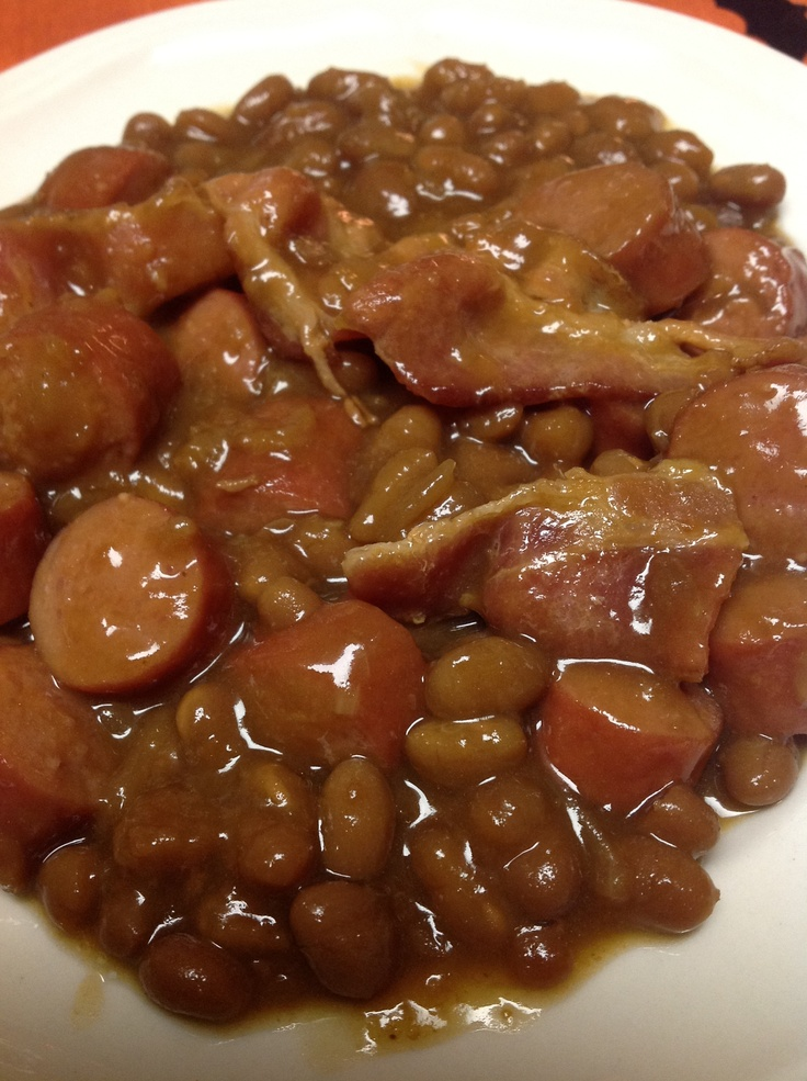 Hot Dog And Baked Bean Casserole
