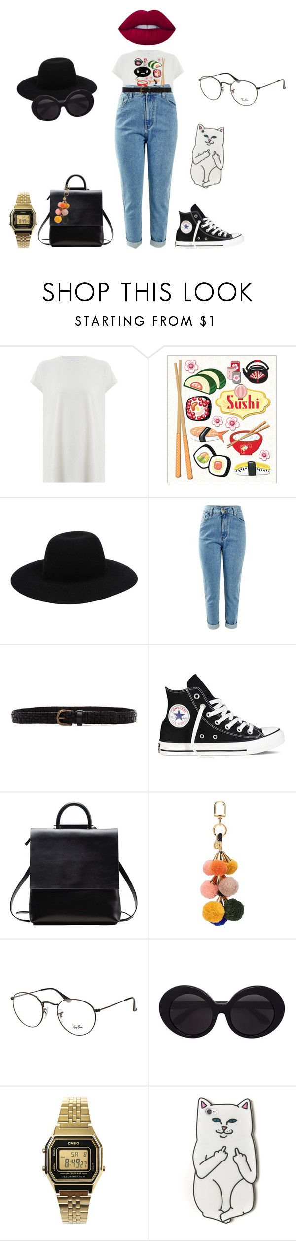 """""""🍱"""" by lena1612 ❤ liked on Polyvore featuring Zimmermann, Off-White, Liebeskind, Converse, Tory Burch, Ray-Ban, Linda Farrow, Casio, RIPNDIP and Lime Crime"""
