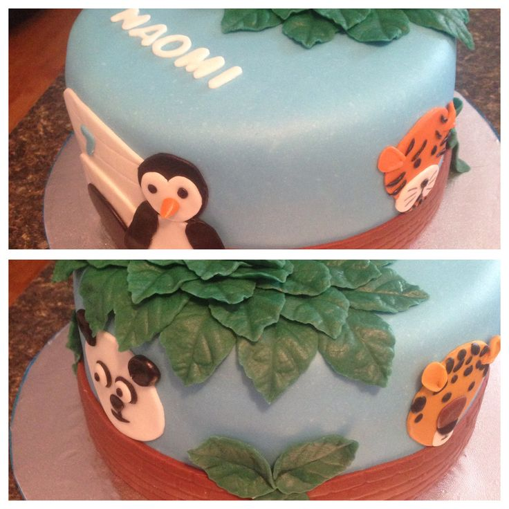 Zoo animals cake