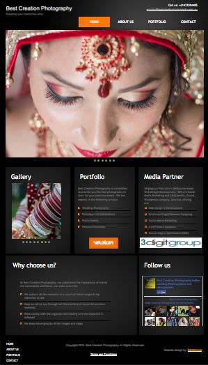 Website for Best Creation Photography, Melbourne is now live. Have a look at www.bestcreationphotography.com.au