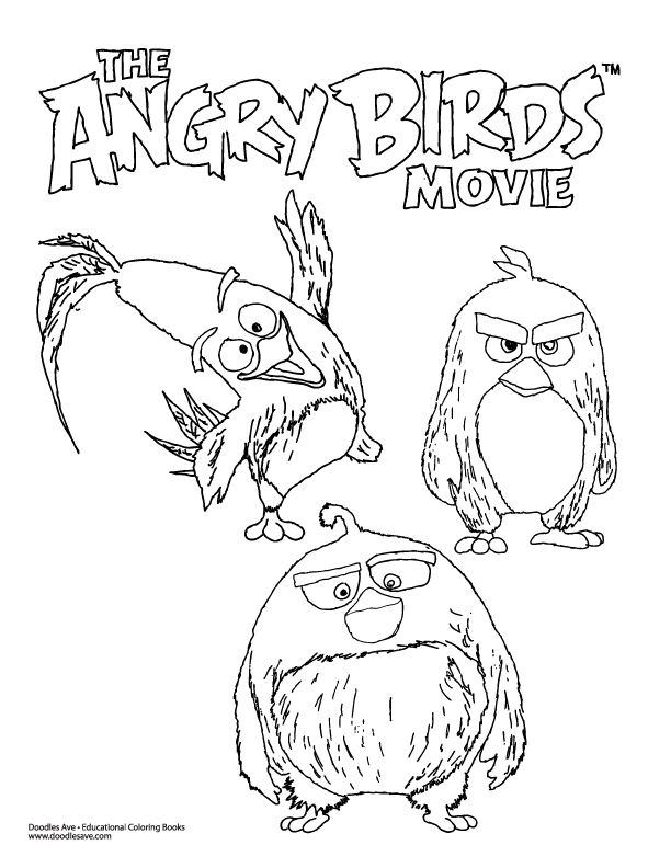 Angry Birds Movie Coloring Sheet! | Delightful Doodles ...