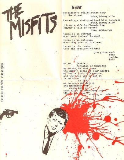 The Misfits Lyric sheet