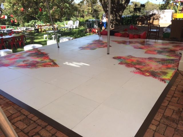 bespoke painted panel dance floor