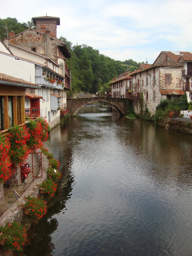 St. Jean Pied de Port (France) on the French side of the Pyrenees.. for many the starting point of the Camino de Santiago. So LOVELY!