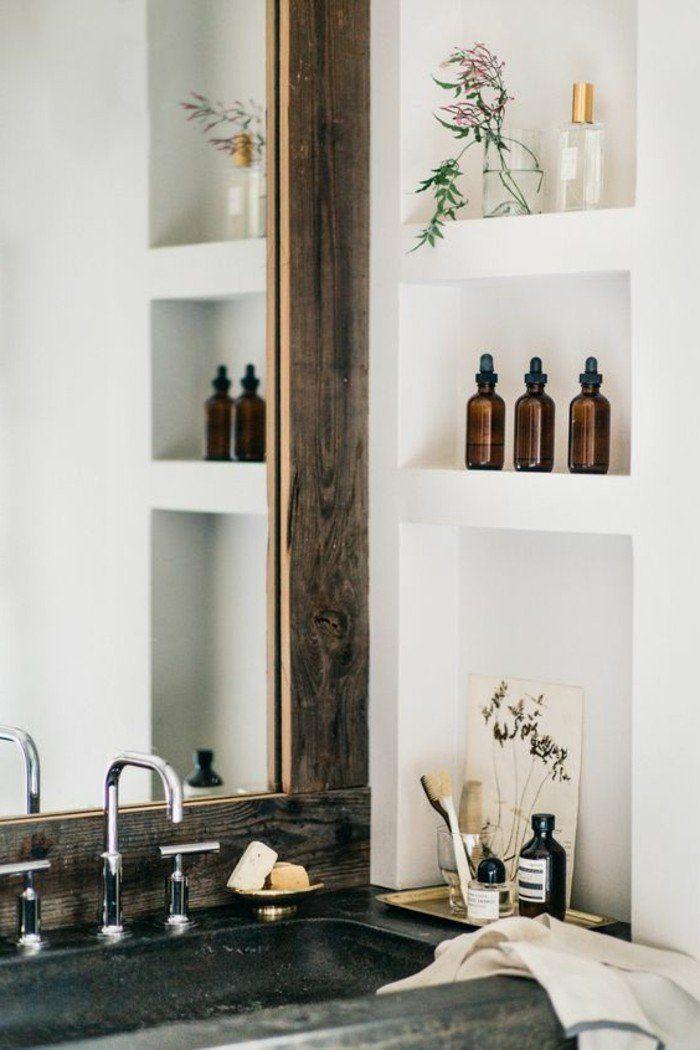 17 meilleures id es propos de salle de bains rangement - Rangement mural salle de bain ...