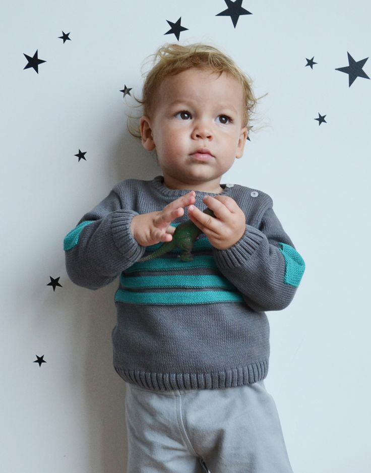 WINTER COLLECTION / La Queue Du Chat / Boys' Stripe Knit Sweater / Classic french stripes in the new collection. www.littlefrenchy.com.au #french #boy #laqueueduchat #new #winter #littlefrenchy