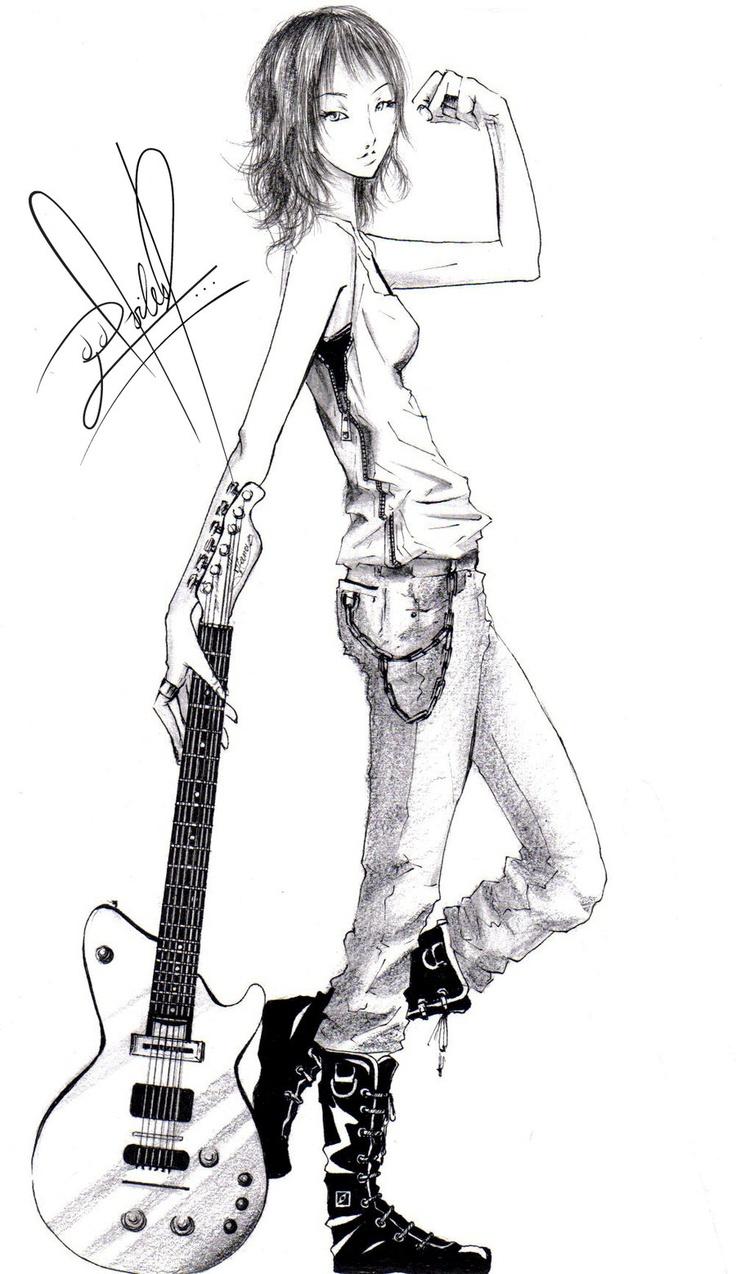 Cartoons Girls With Guitars   hana-ko11's Profile Picture ...