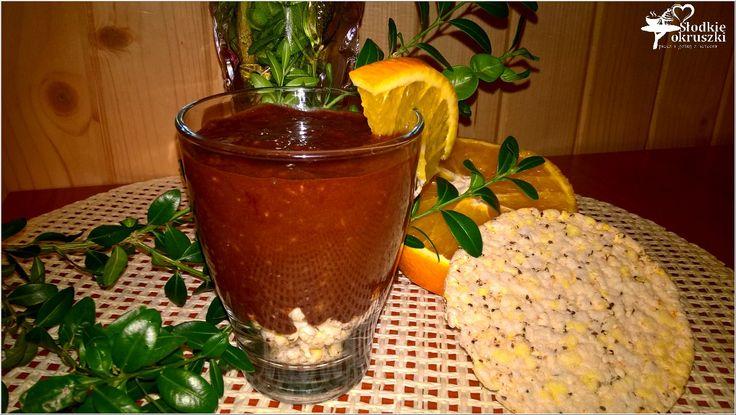 Zdrowy deser czekoladowo-pomarańczowy z chia