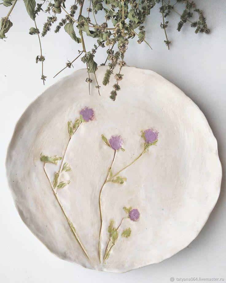 Handmade Porcelain Floral Slabs Spring