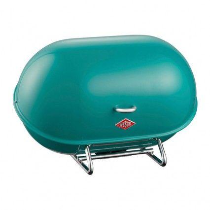 Wesco Single Breadboy Bread Bin - turquoise kitchen bread bin