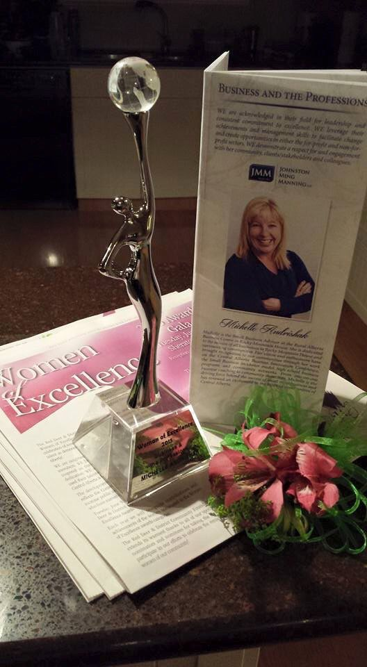 Thank you to the Red Deer and District Community Foundation for honouring me with the Women of Excellence in Business and the Professions award 2015
