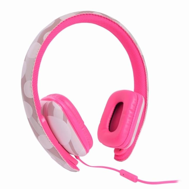 Ear Party Ch!c Buds Noise Cancelling Over-Ear Stereo Headphones w-Inline Mic Tangle-Free Flat Cable & 3.5mm Plug