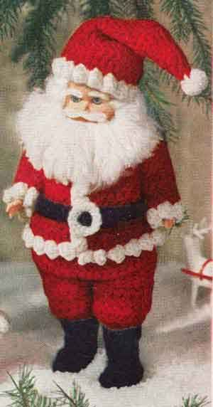 Santa Claus Doll crochet pattern from Crochet For Christmas | Star Book 94