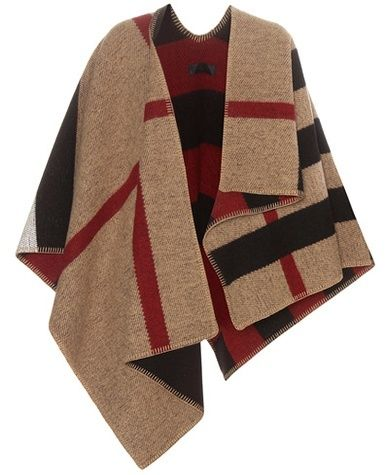 Burberry Wool And Cashmere-blend Poncho on Shopstyle.