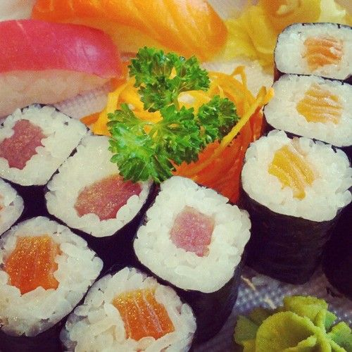 #sushi #lunch - 198/365 (Taken with Instagram at Pankrác)