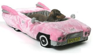 Posh Pink Cadillac Pet Bed - eclectic - pet accessories - by Trixie + Peanut