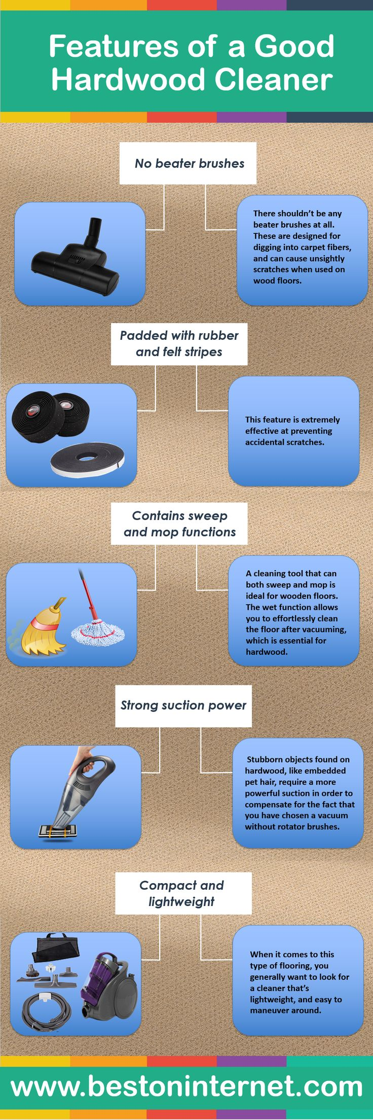 You have tried removing dirt, dust, and grime from your hardwood floor. It's difficult to maintain your Hardwood floor shine and polish. In this Infographic, I have describes the features of #HardwoodVacuumcleaner.