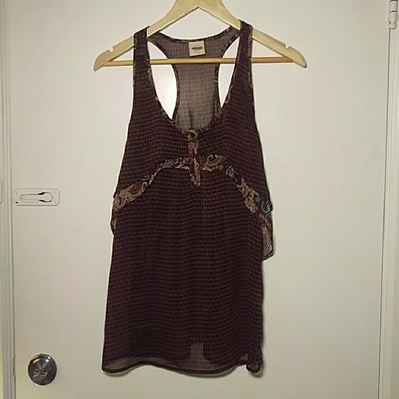 "Boho razorback tank 26"" length 17"" pit to pit  Not sure what the official size is bc I removed the tag. In great shape.  Q116 Mossimo Supply Co Tops Tank Tops"