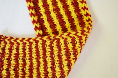 Stripe It Rich scarf - fit for a Gopher or maybe a USC Trojan