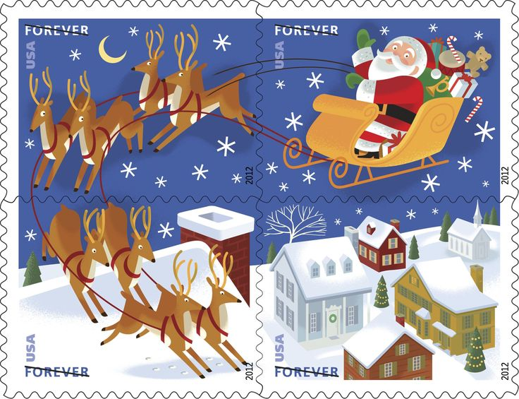 49 best A Postal Christmas images on Pinterest | Christmas mail ...