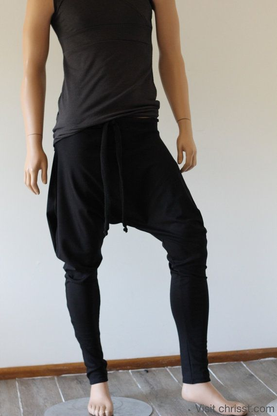 Drop Crotch Pants Yoga Samurai Winter Ponte Unisex by Chrisst4life