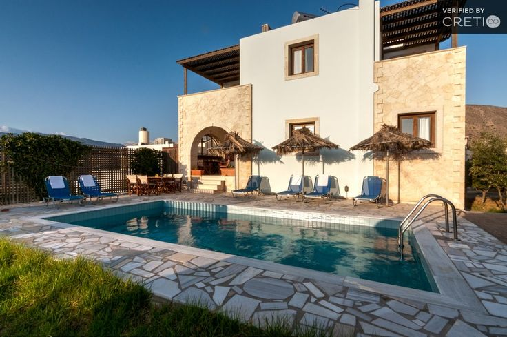 Detached pool villa on the hillside with sea view, Makris Gialos | Cretico