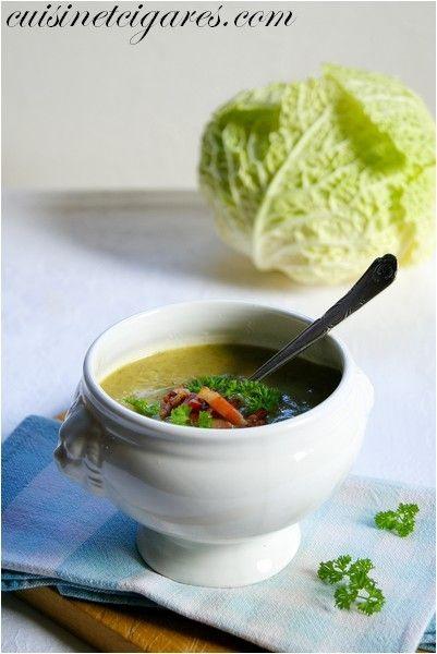 Soupe au Chou Frisé - Cuisine et Cigares