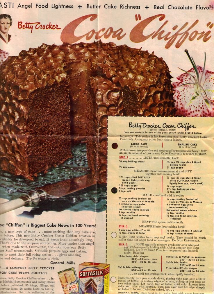 Cocoa Chiffon Cake. Clear and easy to read. What a cake!! Sounds delicious!