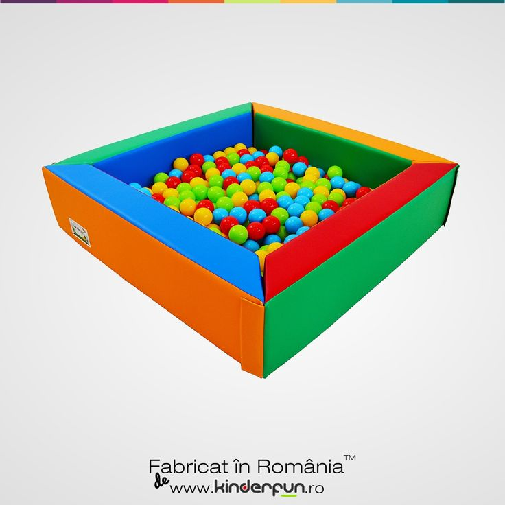 Piscina cu bile, tarc cu bile pentru copii sau loc de joaca Magic. Material moale si rezistent, viu colorat. Producator Kinderfun Soft Play Romania - Soft Play Ball Pool Kids Kinderfun™