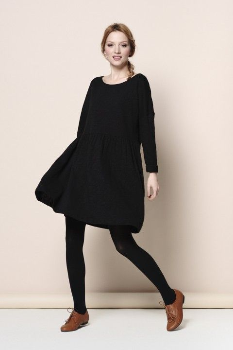 Des Petits Hauts. Beautiful black dress in soft fabric: http://www.sophieandrose.com/des-petits-hauts-dress-1h130019.html