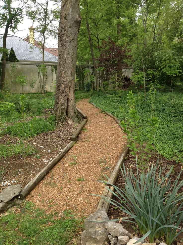 Railroad Tie Bordered Gravel Path Diy Ideals For