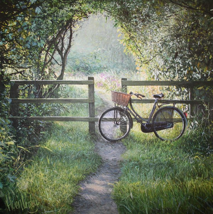 17 best images about nature landscape scenes on pinterest for Bicycle painting near me