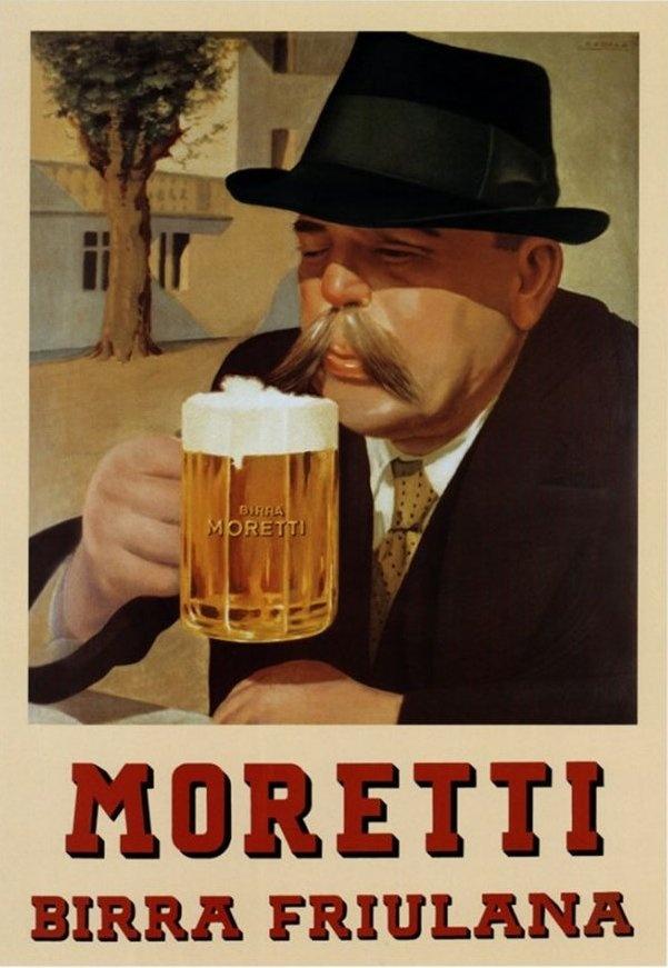 Old Italian beer ad