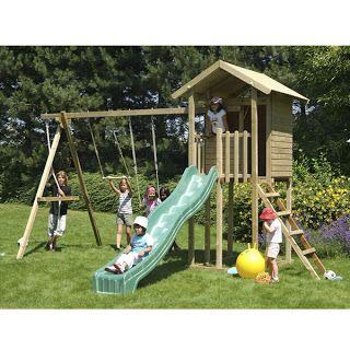 como construir casita de madera elevada para niños - Buscar con Google