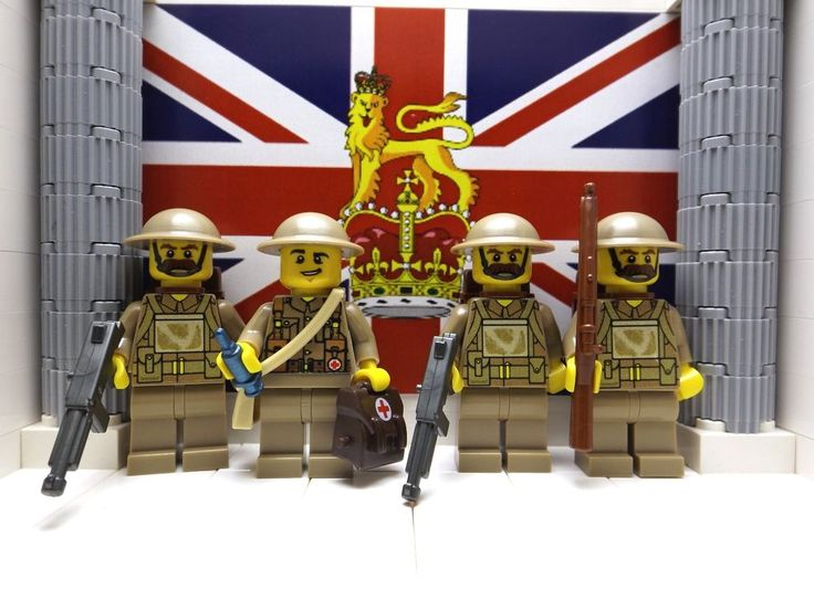 Lego 4x wwii british hampshire regt june 1940 with lee enfield s medic