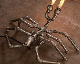 EBE Designer Industrial Lighting -Steampunk Lamp Table Lamp Edison Vintage Light Water Pipe Bedside Lamp Rustic Light