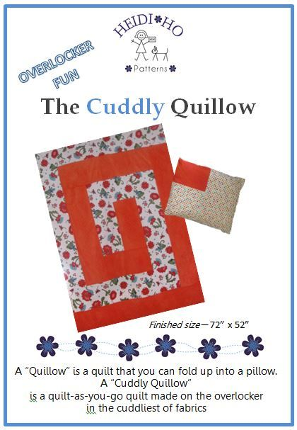 You can sew this quillow on your overlocker in no time at all.
