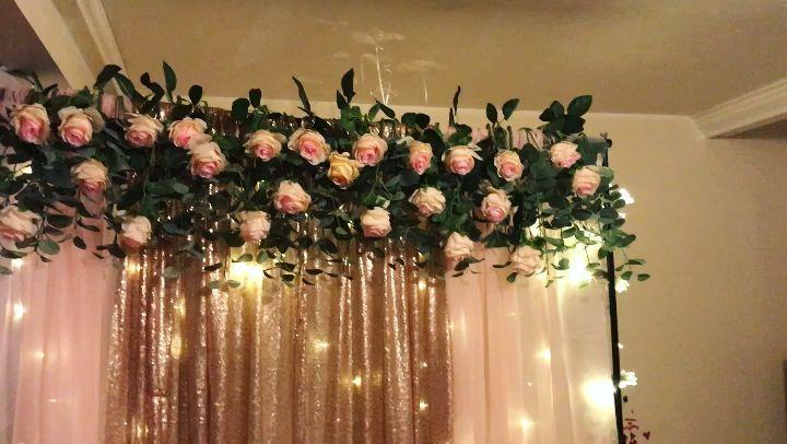 7FT 8 26 HEAD CORAL PEACH ROSE FLOWER GARLAND//WEDDING FLOWERS//DECORATION//CRAFTS