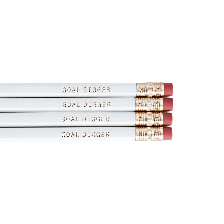 Goal Digger Pencils in White