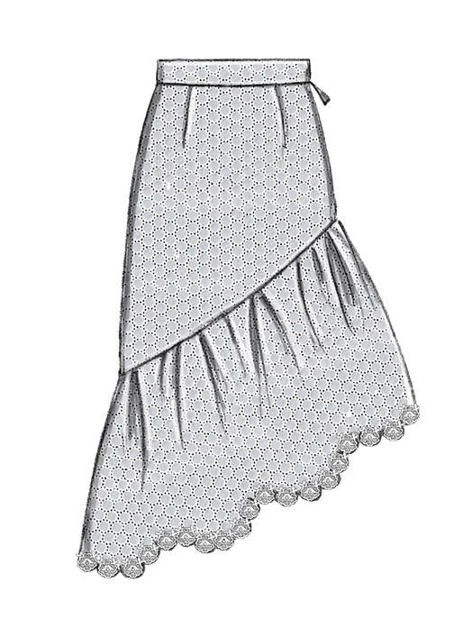McCall\'s skirt sewing pattern with dramatic ruffle. M7725 Misses ...