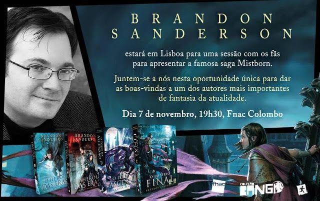 Sinfonia dos Livros: Brandon Sanderson em Lisboa | Convite | Saída de E...