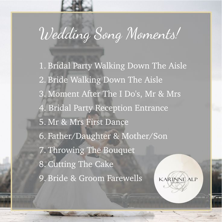 Those special moments you plan wedding songs around...