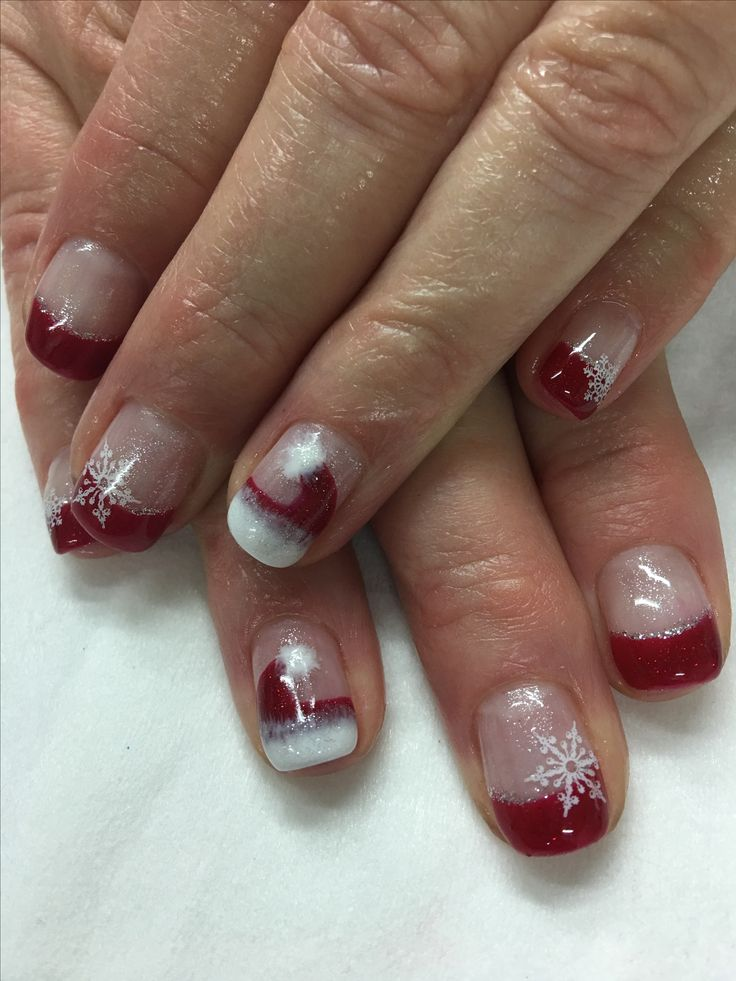Best 679.0+ Christmas/winter nails images on Pinterest | Winter ...