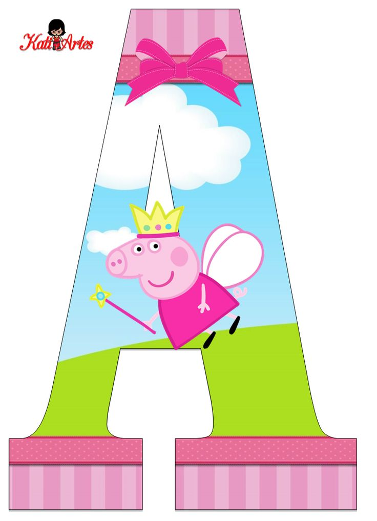 Peppa pig letters and numbers free printable
