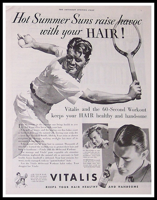 Vitalis Hair Tonic Ad, 1935 by ozfan22, via Flickr