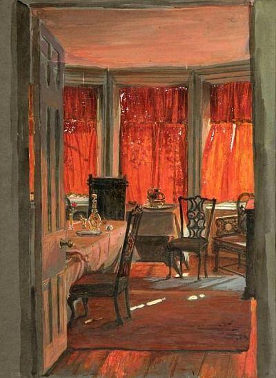 William Holman Hunt- Edith Holman Hunt's Drawing Room. 1925-1928.