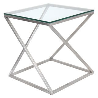 4Z Stainless Steel Modern End Table | Overstock.com Shopping - Great Deals on LumiSource Coffee, Sofa & End Tables
